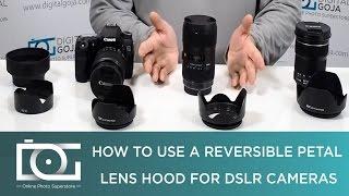 77mm Screw Mount Reversible Tulip Flower Crown Petal Shaped Camera Lens Hood
