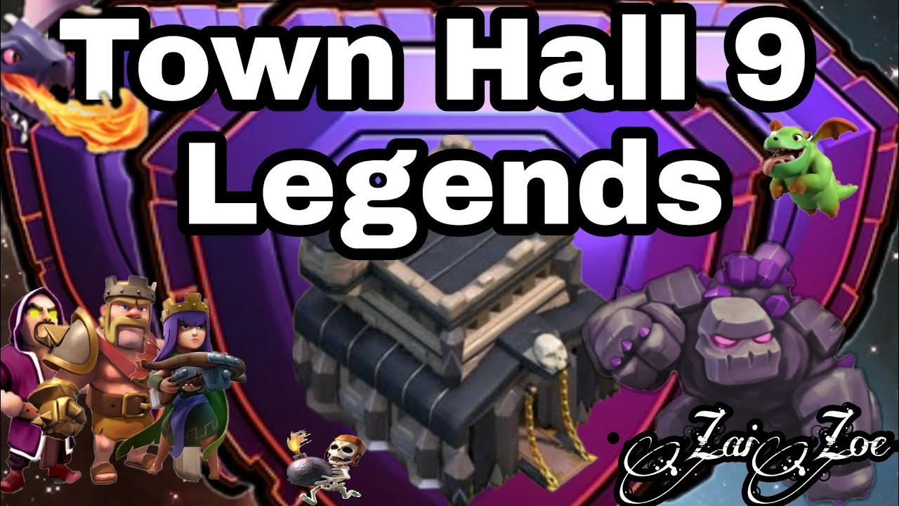town hall 9 attacks inside savage 8 9 youtube