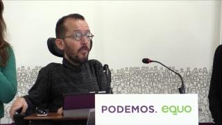 Rueda de prensa Podemos-Equo