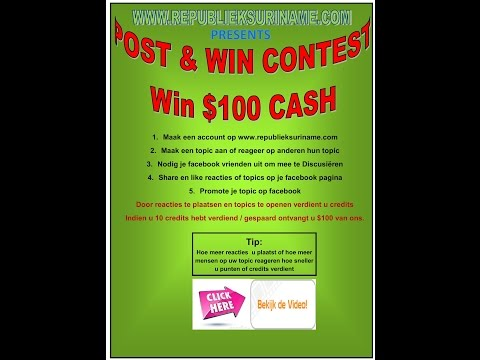 POST & WIN CONTEST IN SURINAME