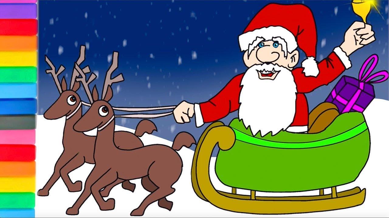 Bambini Babbo Natale Disegno.Disegni Per Bambini Buon Natale Disegnare Babbo Natale Youtube