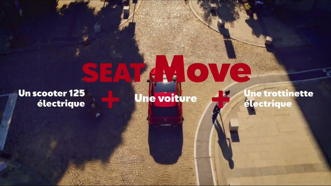"""Musique de la pub Seat Move """"un scooter 125 électrique + une voiture + une trottinette électrique""""  2021"""