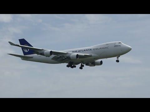 Boeing 747-400F AIR ATLANTA ICELANDIC landing at Stuttgart Airport