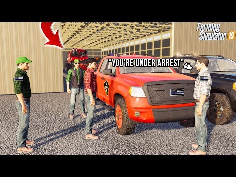 WE ARE GOING TO JAIL      FARMING TOURNAMENT   POLICE CHASE   FS19