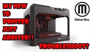 New Makerbot Replicator Plus 3D Printer Setup!!
