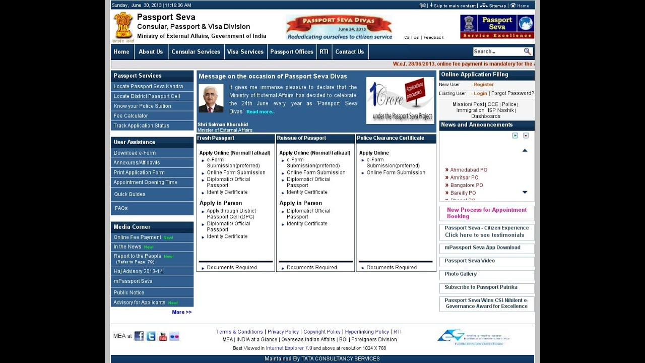 Image result for passportindia website renew
