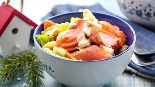 Салат Цезарь с филе лосося