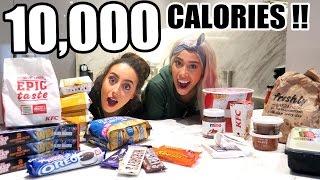10,000+ CALORIE CHALLENGE 🍔 🍩  GIRL v. FOOD