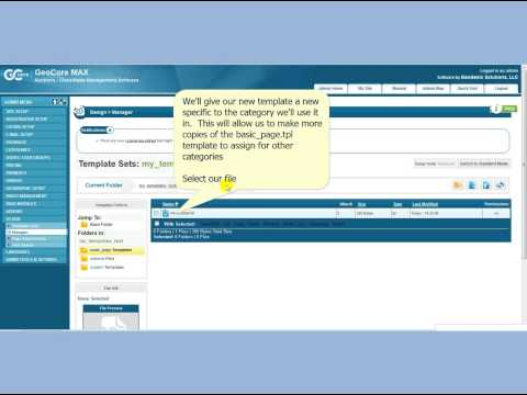 Geodesic Solutions Classified ad and Auction Software Category Specific Page Templates Demo