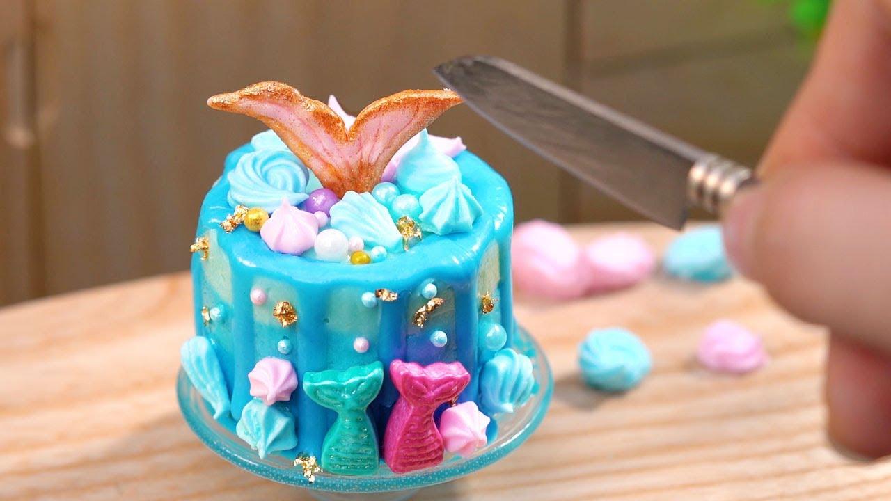 Satisfying MERMAID CAKE Decorating Ideas   Miniature Cake Recipes   Tiny Cakes