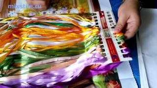 Набор Цветы в вазе  Вышивка лентами  Обзор от mixstile ru