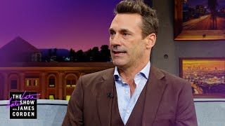 Jon Hamm & Judy Greer Were Halloween Candy Hounds