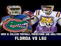 Florida vs LSU Week 6 College Football Predictions & Analysis | Upset Watch ?