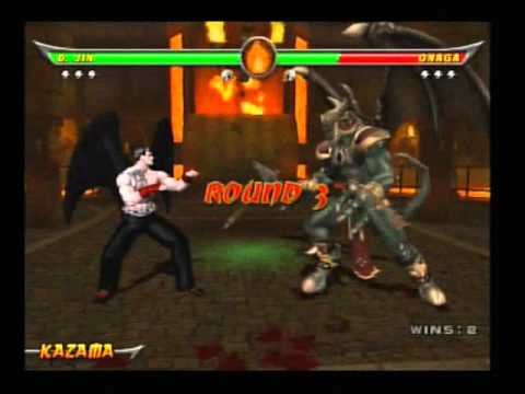 Mortal Kombat: Armageddon - Devil Jin VS Onaga - YouTube