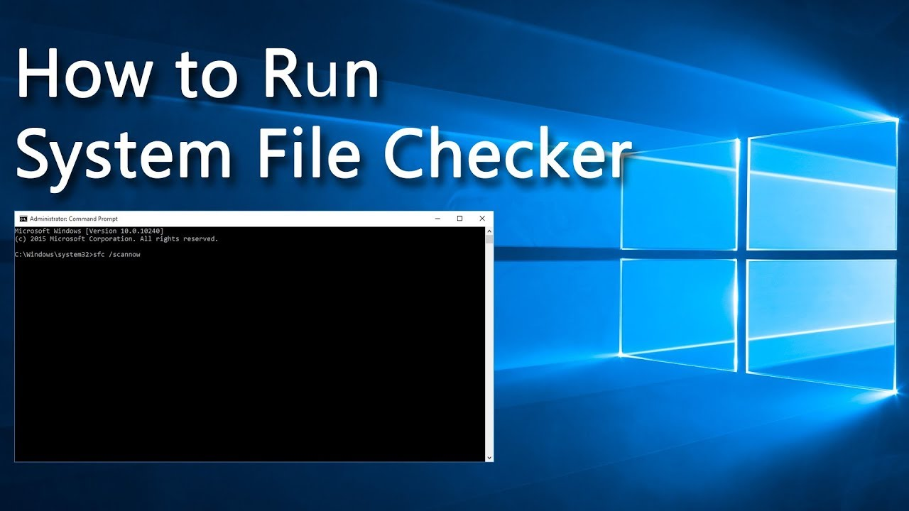 9de18928c765 How to run System File Checker in any Windows version - YouTube