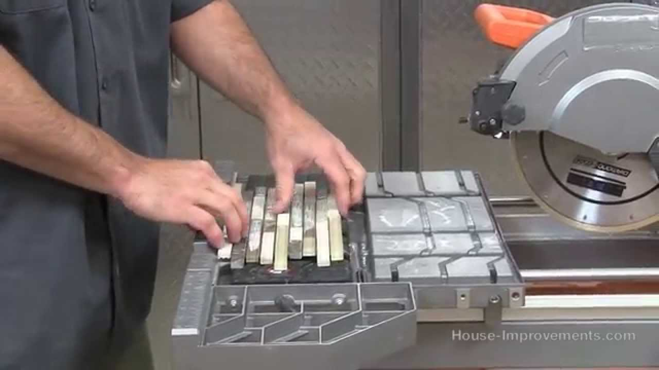 How to use a wet tile saw youtube greentooth Images