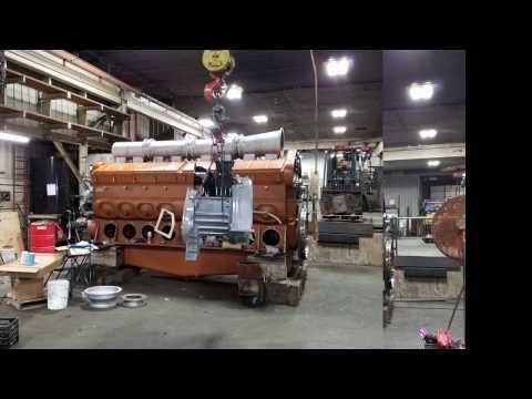 16 Cylinder 645 E7 EMD diesel Boneyard to Dyno