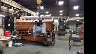 Download Video 16 Cylinder 645 E7 EMD diesel Boneyard to Dyno MP3 3GP MP4