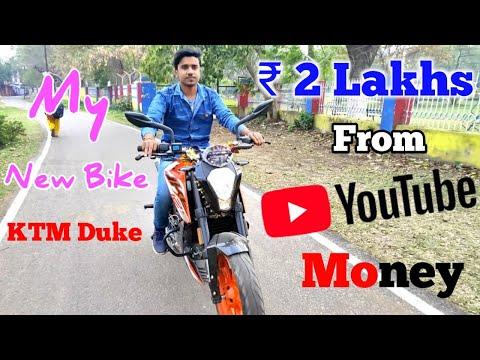 😮 My New Bike From Youtube Money KTM Duke INR 2 Lakhs || Google Tricks Vlogs