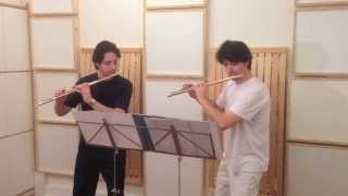 The best Flute Duo ever plays Flight of the Bumblebee