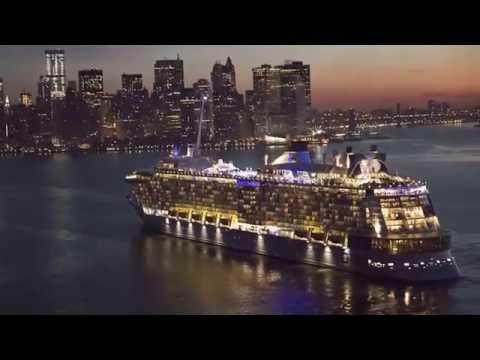 Quantum of the Seas Sails into New York Harbor