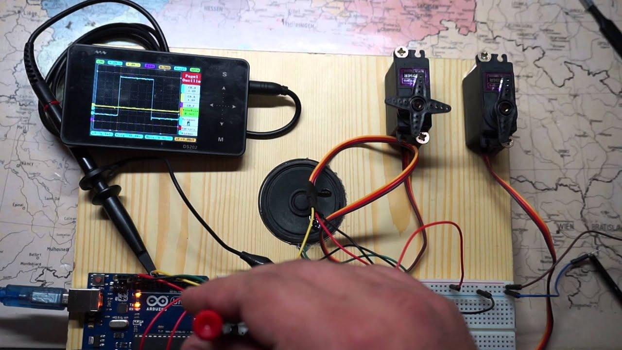 Mg996r Servo Wiring Diagram Schematic 2015 10 25 Arduino 2 Servos Youtube Vector