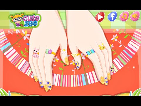 Barbie Easter Nails Designer Fun Online Nail Fashion Games For