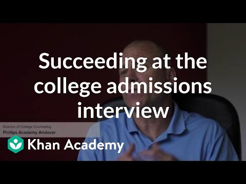Succeeding At The College Admissions Interview