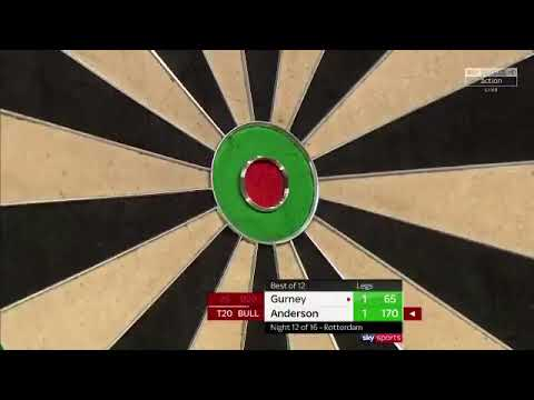 Gary Anderson 170 CHECKOUT IN ROTTERDAM! Premier League 2018
