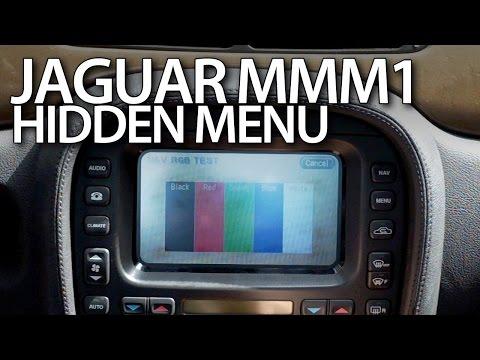 Jaguar MMM1 hidden menu S-Type, X-Type, XJ navigation service mode