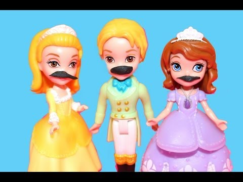 MUSTACHE Sofia the First PHOTO Shoot with PLAY-DOH Royal Family Amber James AllToyCollector