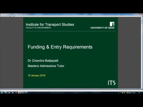 Masters Degrees in Transport - webinar on scholarships and admissions