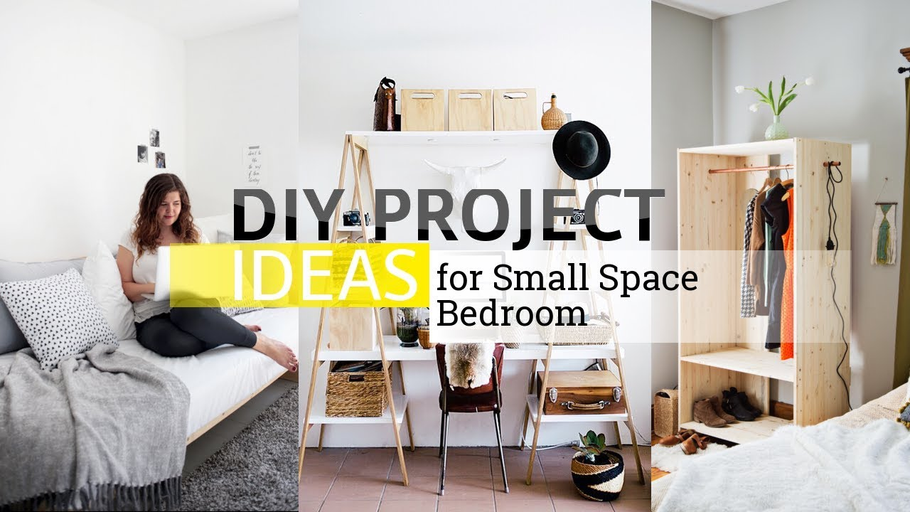 11 Diy Project Ideas For Small And Limited Space Bedroom Youtube