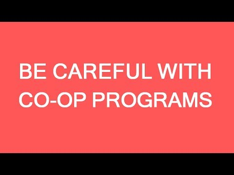 Coop programs for international students in Canada. Be aware