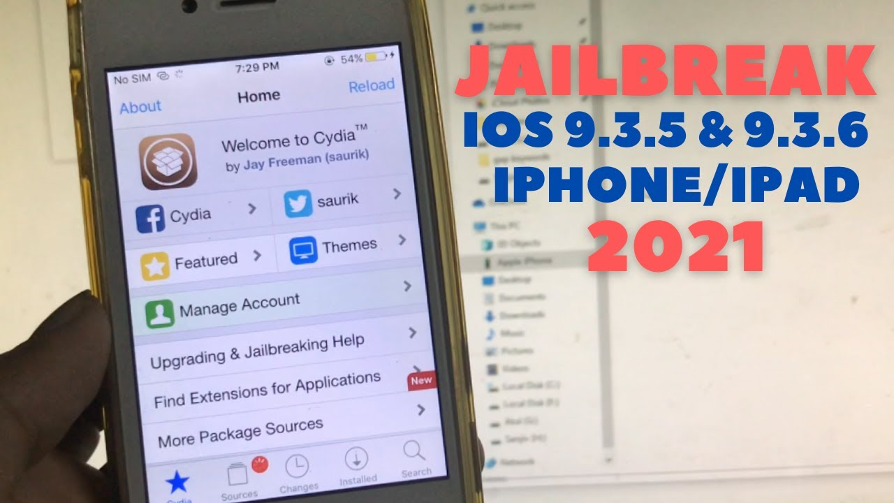 iPhone 4s Jailbreak iOS 9.3.5 & 9.3.6 in 2021 - YouTube