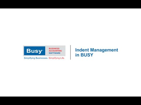 Indent Management in BUSY (English)