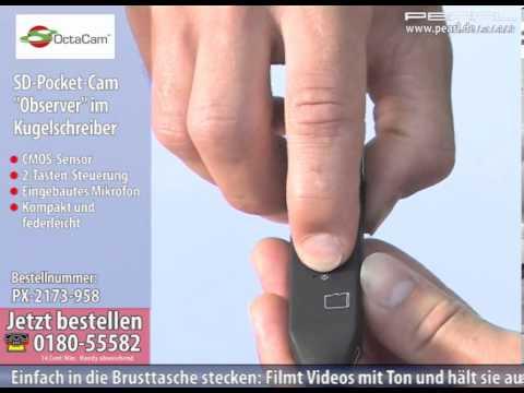 OctaCam Hightech-Tischuhr mit SD-Videokamera und Voice-Recorder