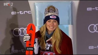 Mikaela Shiffrin wins Snow Queen Trophy in Zagreb 5.1.2019