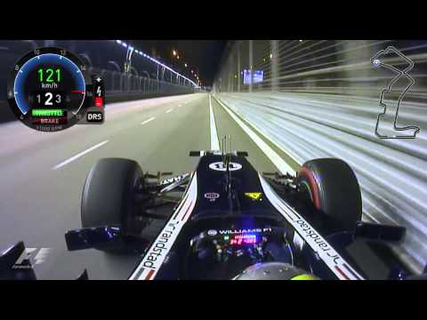 F1 Singapore 2012 / Pastor Maldonado Qualifying Lap - Onboard HD
