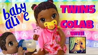 Baby Alive Face Paint Fairy Doll Name, First Feeding & Changing! Fun With Baby Alive Twins Colab 💞