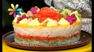 Салат на Новый год: суши-торт – Все буде добре. Выпуск 1141 от 18.12.17