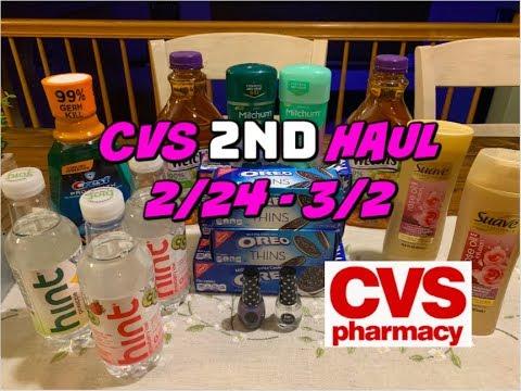 CVS 2ND HAUL VIDE0 2/24 - 3/2 | CHEAP DEODORANT, COOKIES & 4¢ JUICE!