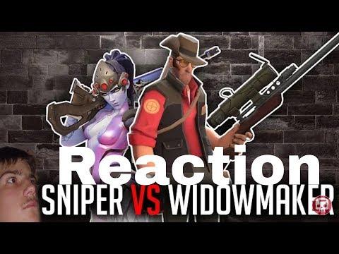 SNIPER VS WIDOWMAKER RAP BATTLE by JT Music (Overwatch vs TF2) | Reaction