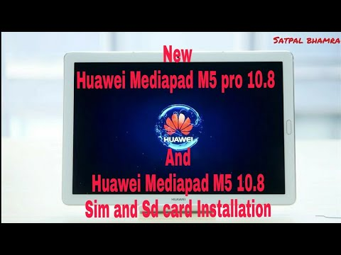 Huawei Mediapad M5 Pro  : How To Insert The SIM Card ? | Single Sim And Sd Card ( 2018 )
