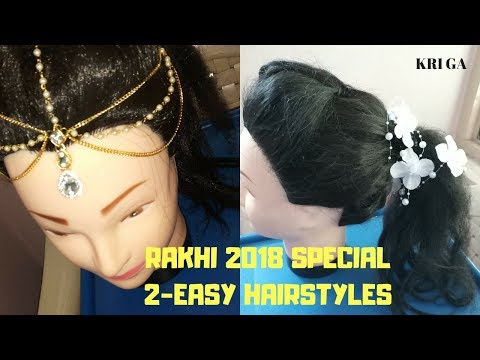Raksha bandhan special hairstyle|how to style maang tikka and other hair accessories thumbnail