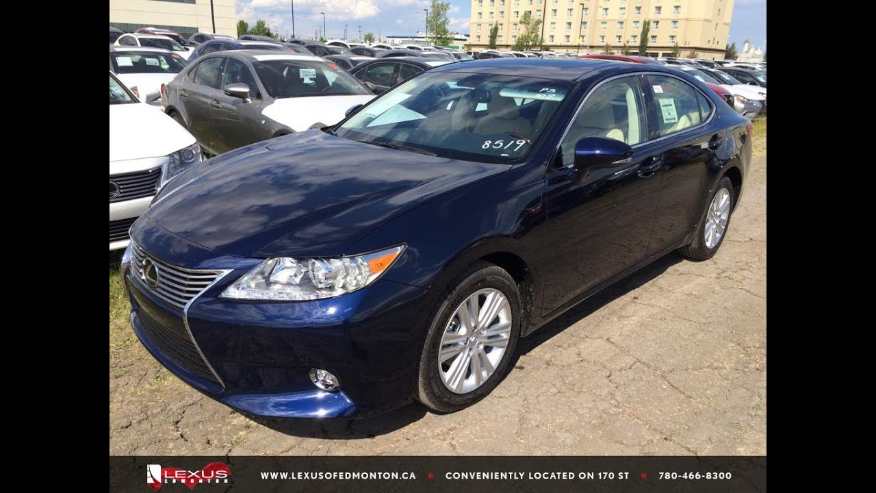 New 2015 Deep Sea Blue Lexus ES 350 Touring Package Review