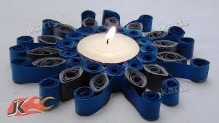 DIY Paper Quilling Candle Holder - JK Arts 148