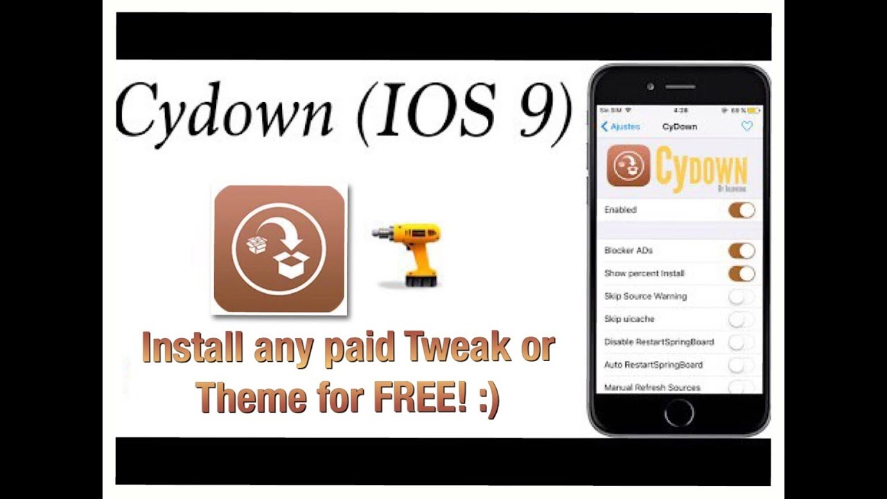 How to get paid tweaks and themes for free with Cydown - IOS