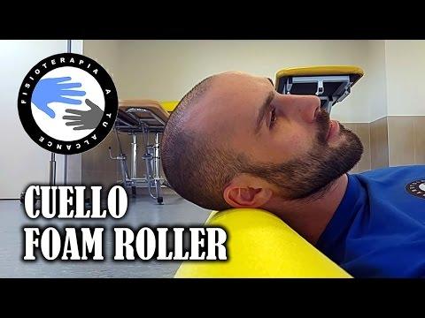 Foam roller ejercicios para el dolor de cuello o cervicalgia
