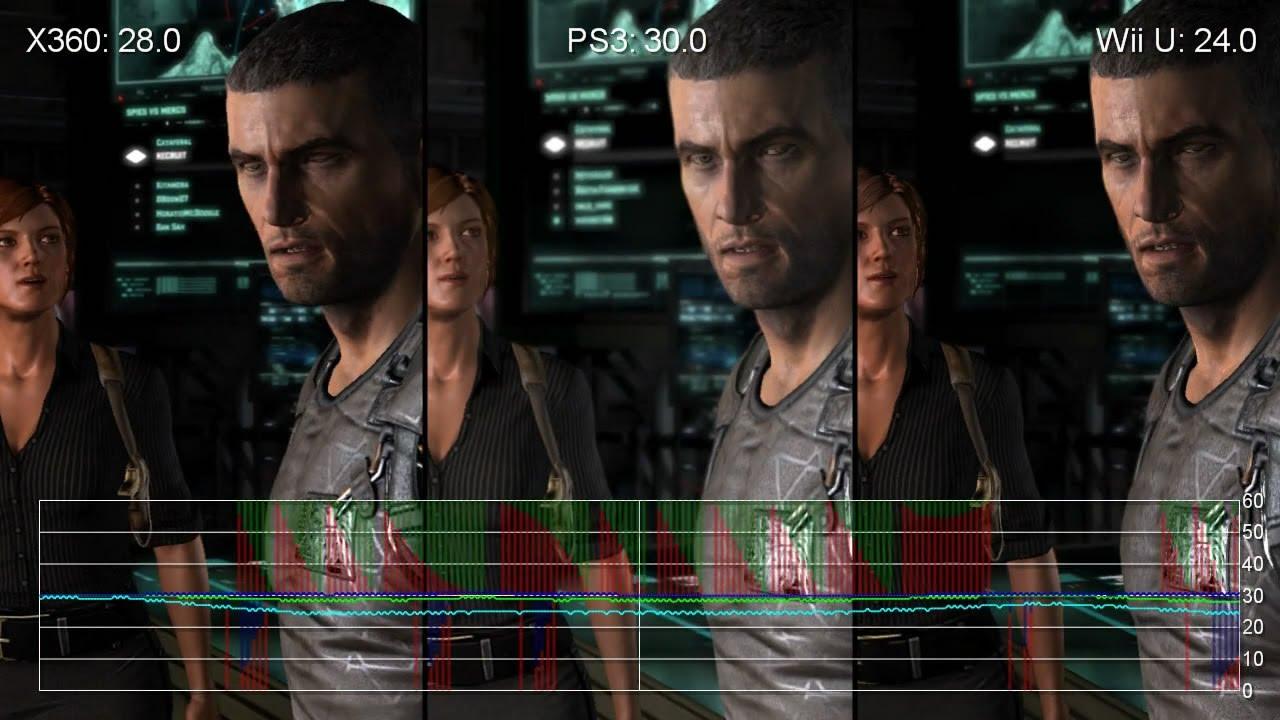 Splinter Cell Blacklist Xbox 360 Wii U Ps3 Frame Rate